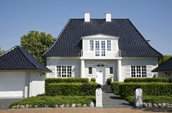 Luxury villa Denmark Stock Photo