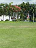 Luxury villa at golf course royalty free stock image