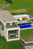 Luxury villa. On the hill above city of Bregenz, Austria royalty free stock photography