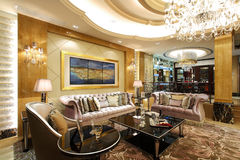 Luxury villa living room Royalty Free Stock Image