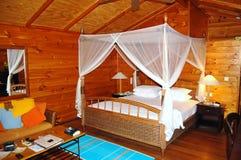 Luxury Villa. Meru Island Maldives west beach luxury private villa on the beach stock photography
