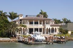Luxury villa in Naples, Florida stock photos