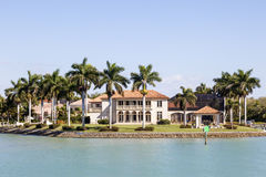 Luxury villa in Naples, Florida royalty free stock images