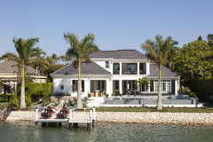 Luxury villa in Naples, Florida. Naples, Fl, USA - March 18, 2017: Luxury waterfront villa in the city of Naples. Florida, United States royalty free stock photo