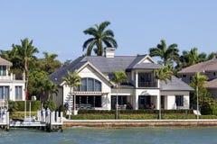 Luxury villa in Naples, Florida stock images