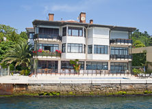 Luxury Villa On A River Stock Photography