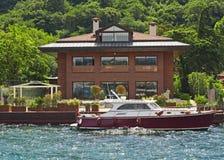 Luxury Villa On A River Stock Photo