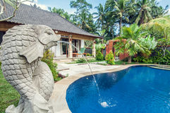 Luxury villa with pool outdoor Royalty Free Stock Photo