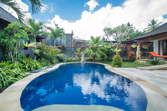 Luxury villa with pool outdoor Royalty Free Stock Images