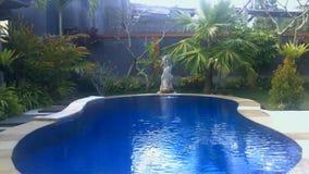 Luxury villa with pool outdoor stock video