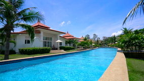 Luxury Villa with Private Swimming Pool. stock video