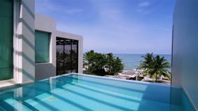 Luxury Villa with Private Swimming Pool Stock Photos