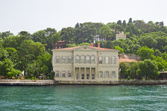 Luxury villa on a river Stock Image