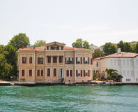 Luxury villa on a river Royalty Free Stock Photo