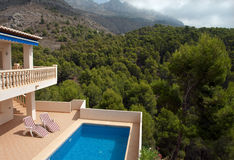 Luxury villa in Spain Stock Image