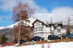 The luxury villa at Strbske Pleso ski resort Stock Image