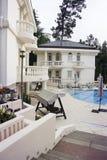 Luxury villa with swimming pool Stock Image
