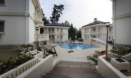 Luxury villa with swimming pool Royalty Free Stock Images