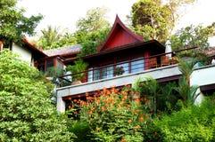 Luxury villa of Thai style hotel Royalty Free Stock Photos