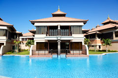 The luxury villa in Thai style hotel on Palm Jumeirah Stock Photo