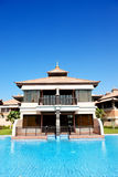 The luxury villa in Thai style hotel on Palm Jumeirah Stock Photos