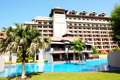 The luxury villa in Thai style hotel on Palm Jumeirah Stock Photography