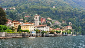 Luxury villas along the bank of Lake Como Royalty Free Stock Photography