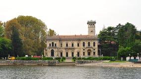 Luxury villas along the bank of Lake Como Stock Images