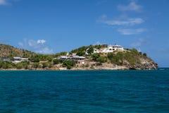 Luxury villas near Pigeon Beach Stock Image