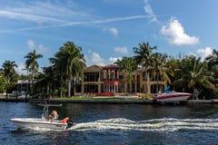 Luxury villas in the Sunny Isles Beach Royalty Free Stock Image