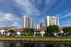 Luxury villas in the Sunny Isles Beach Stock Photos