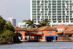 Luxury villas in the Sunny Isles Beach Stock Images