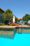 Luxury villas and swimming pool at luxury hotel Royalty Free Stock Image