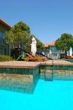 Luxury villas and swimming pool at luxury hotel. Antalya, Turkey Royalty Free Stock Image