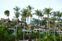 Luxury villas of Thai style hotel Royalty Free Stock Photography