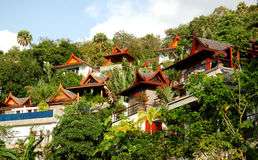 Luxury villas of Thai style hotel Stock Images