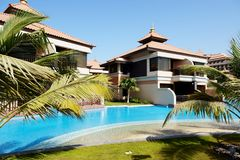 The luxury villas in Thai style hotel on Palm Jumeirah Stock Photography