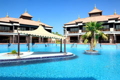 The luxury villas in Thai style hotel on Palm Jumeirah Royalty Free Stock Image