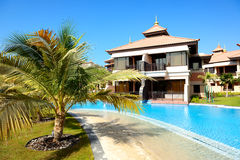 The luxury villas in Thai style hotel on Palm Jumeirah Stock Images