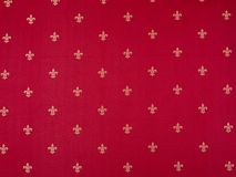 Fleur-de-lis Pattern painted on a red wall. Luxury vinous red and yellow vintage classical vector illustration