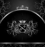 Luxury vintage aluminium frame template Royalty Free Stock Photography