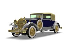 Luxury Vintage auto. 3D vintage luxury automobile white background Stock Image