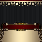 Luxury vintage background with decorative borders. stock images