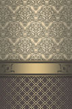 Luxury vintage background with decorative patterns. Royalty Free Stock Image
