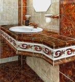 Luxury Vintage Bathroom Lifestyle. Interior of luxury vintage bathroom in resort apartment stock image