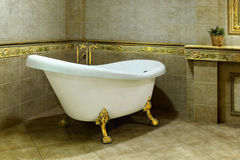 Luxury Vintage Bathroom, Relaxation, Interior Stock Images
