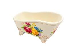 Luxury vintage bathtub. Isolated on white Royalty Free Stock Image