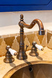 Luxury vintage brass faucet Royalty Free Stock Photos