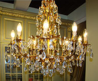 Luxury vintage chandelier Stock Image