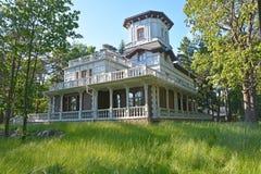 Luxury vintage cottage at the Zelenogorsk Stock Photo